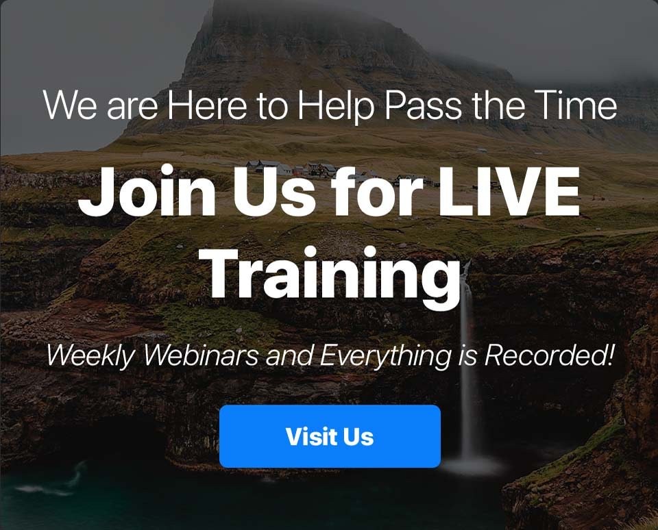 Join Us For Live Training